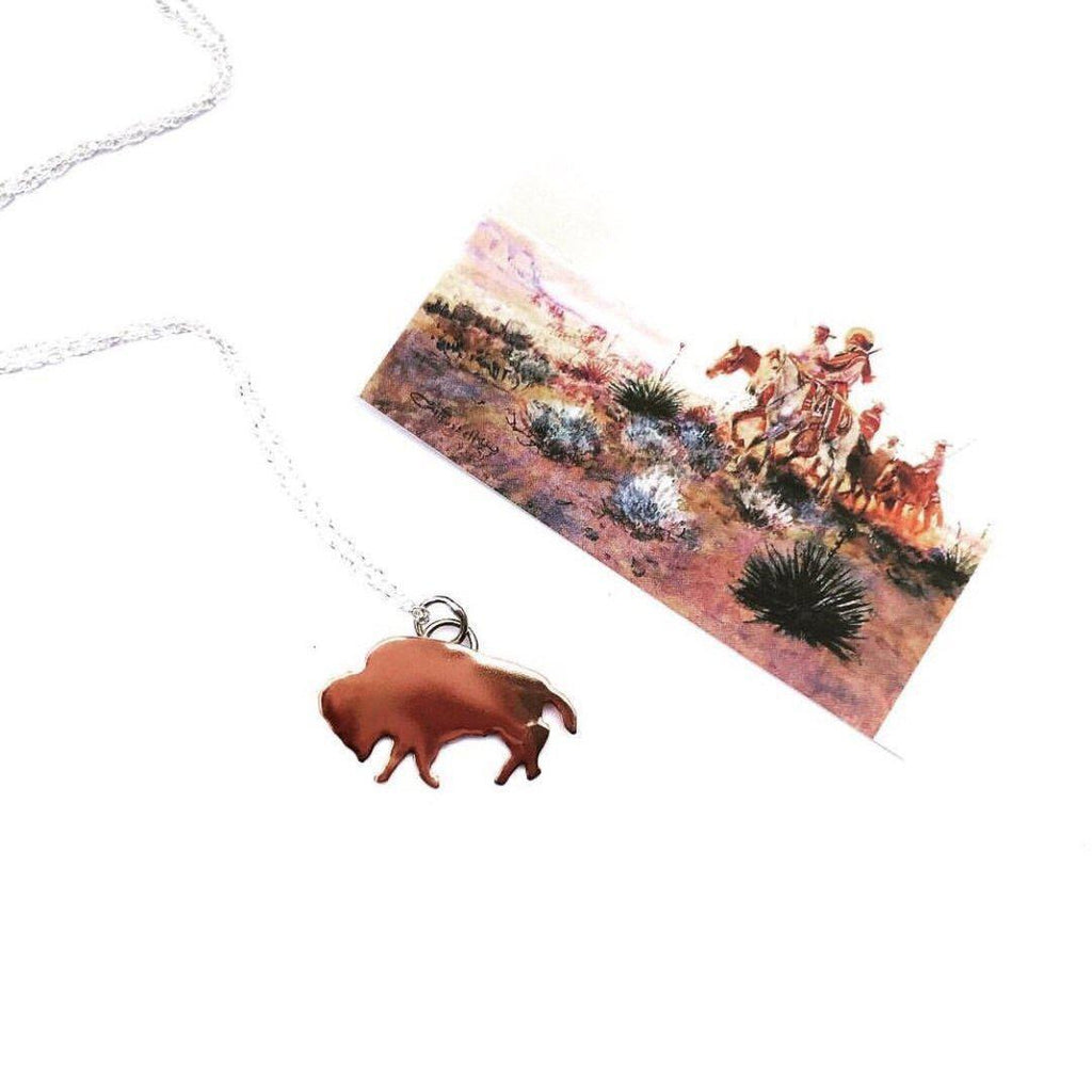 Buffalo Babe Necklace in Copper Prairie Sky