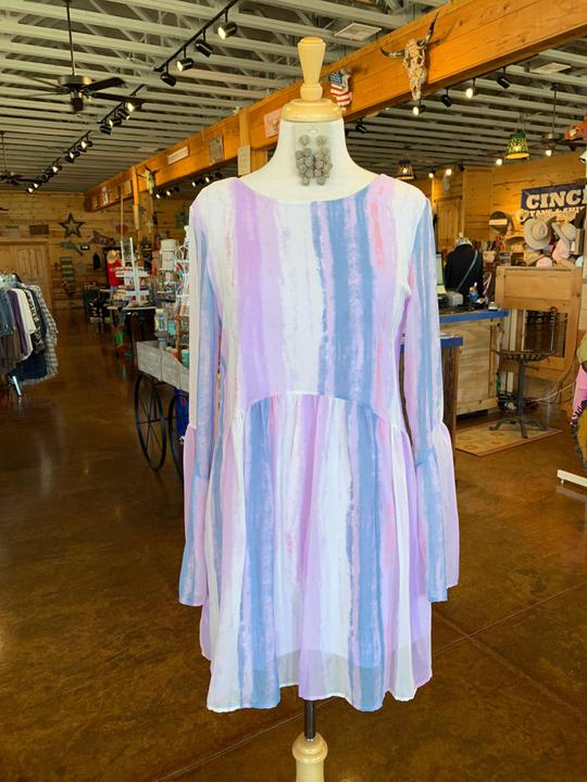 Watercolor Peasant Dress