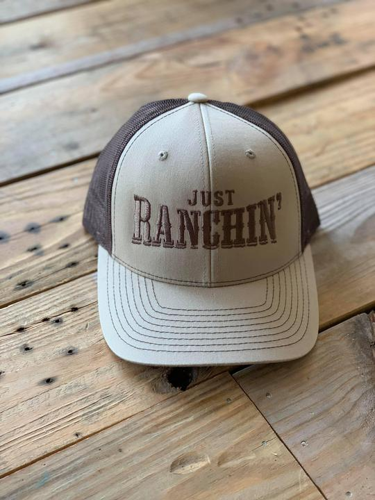 Just Ranchin' rodeotime cap