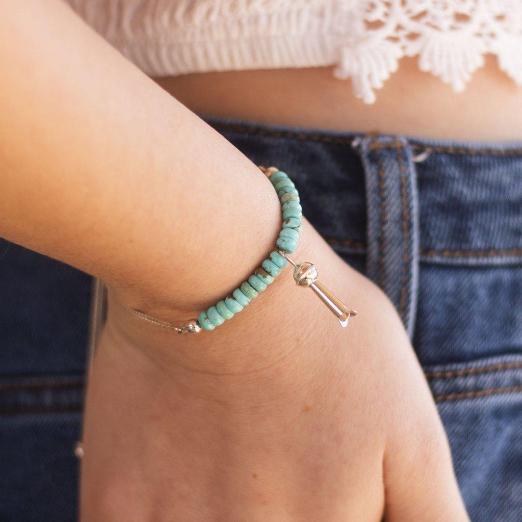 Lorena // Adjustable Bracelet Prairie Sky