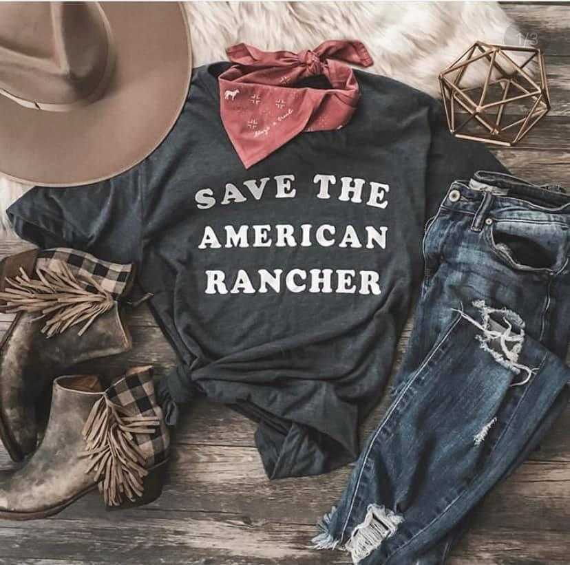 Save The American Rancher Tshirt
