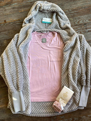 Pale Pink Vneck Top