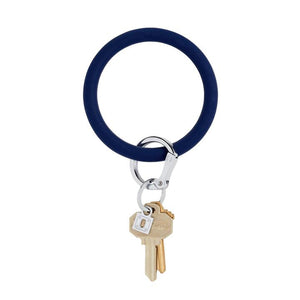 midnight navy silicOne Big-O keyring