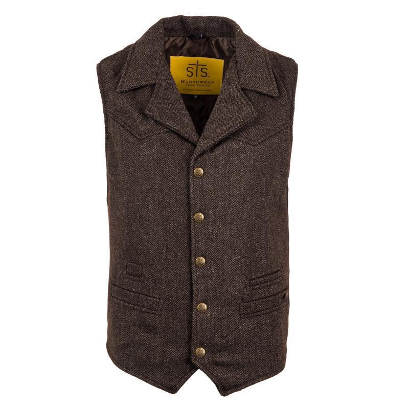 The Gambler Vest STS (chocolate tweed)