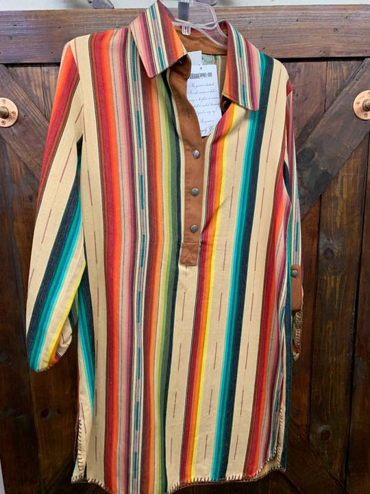 Tan Serape Shirtdress