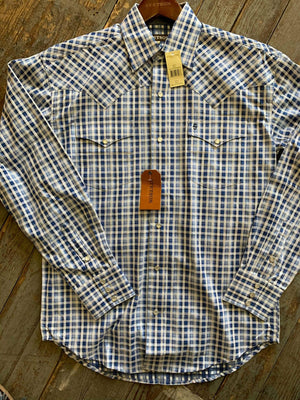 Stetson Blue Checkered Mens shirt