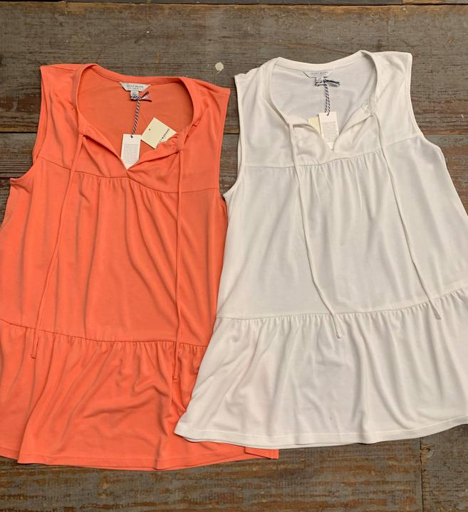 Lucky brand tiered tanks