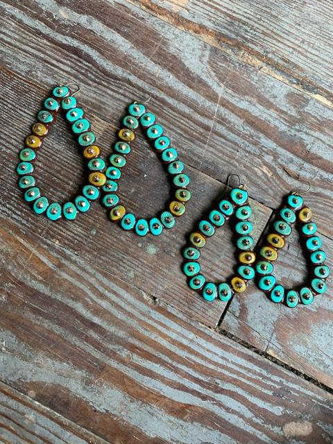 Turquoise Luxe Ravenas Earrings Sookie Sookie