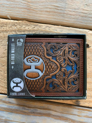 2041138W8 Navy Inlay Bifold Wallet