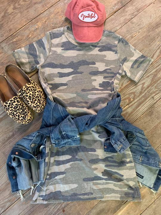 Lucky Brand Camo tshirt dress