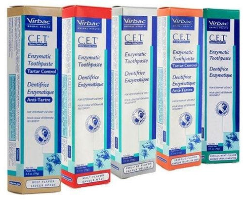 Virbac 10144 C.E.T. Enzymatic Toothpaste, Malt Flavor, 2.5 oz - Peazz Pet