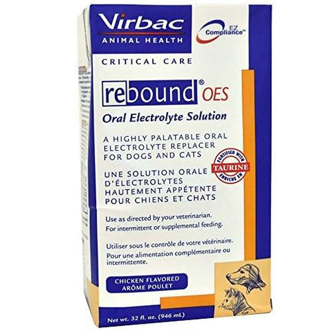 Virbac 15098 Rebound OES Oral Electrolyte Solution 32 oz - Peazz Pet
