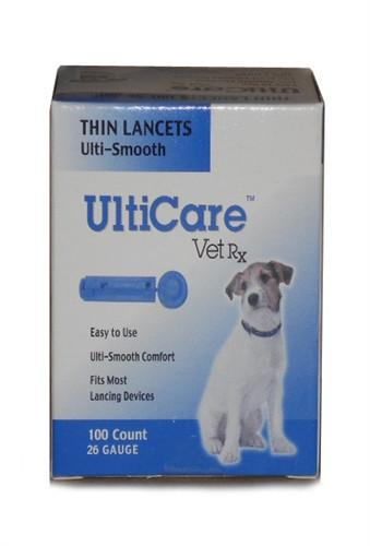 Ultimed 16691 Ulticare Vet Rx Lancets For Dogs, 26g, 100 ...
