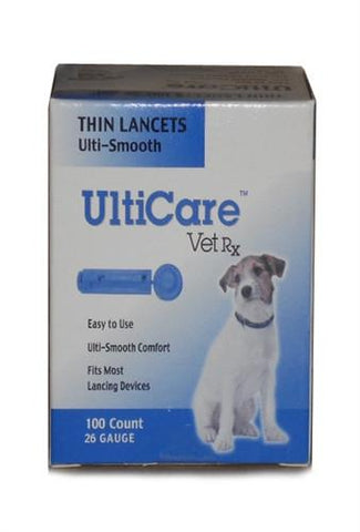 UltiCare 16691 UltiCare Vet Rx Lancets For Dogs, 26G, 100 Count Box - Peazz Pet