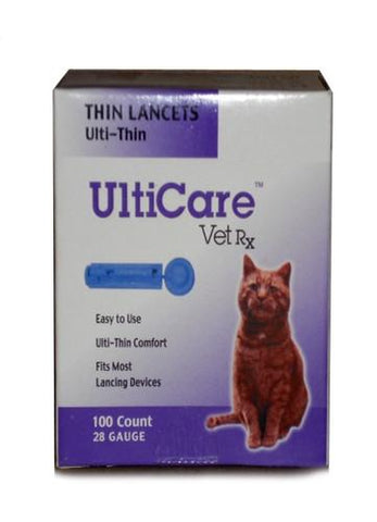 UltiCare 16692 UltiCare Vet Rx Lancets For Cats 28G, 100 Count Box - Peazz Pet
