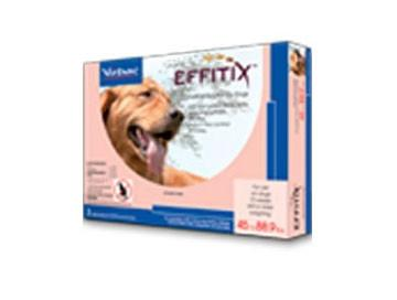 Virbac 18223 EFFITIX Topical Solution For Dogs 4588.9 lbs, 6 Month Supply PINK - Peazz Pet