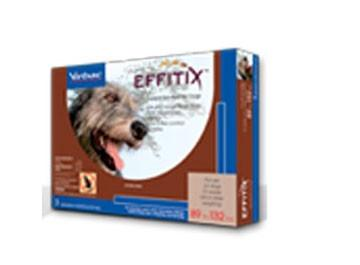 Virbac 18225 EFFITIX Topical Solution For Dogs 89132 lbs, 3 Month Supply BROWN - Peazz Pet