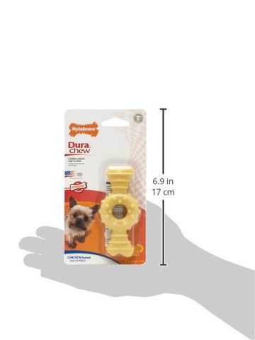 Nylabone NCF901P Dura Chew Textured Ring Bone Dog Chew Chicken