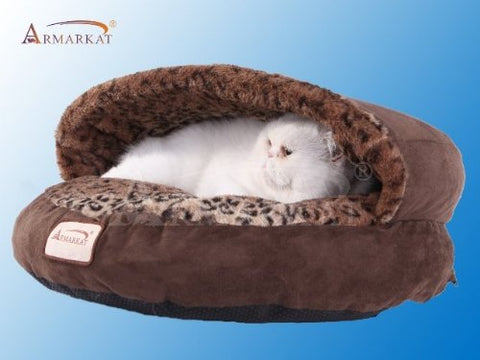 Armarkat Cat Bed, Mocha and Leopard