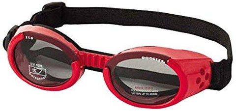 Doggles DGILSM13 ILS Small Shiny Red Frame and Smoke Lens