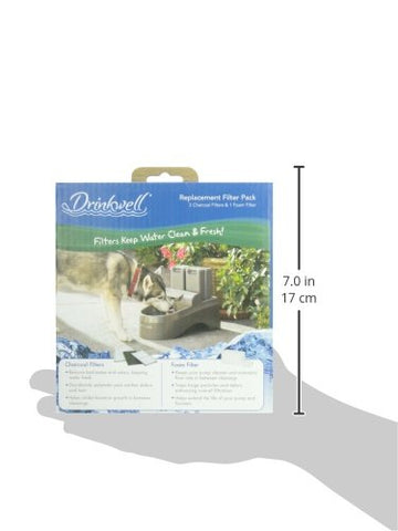 PetSafe PAC00-13192 Drinkwell Outdoor Dog Pet Fountain replacement filters 3 pack