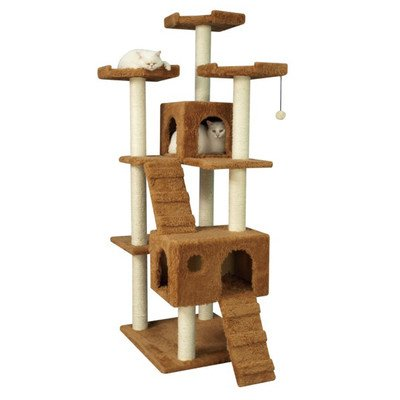 "74"" Cat Tree in Brown"