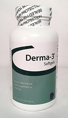 Derma-3 Softgels LG DOG 60 Cap, D. GRN - Peazz Pet