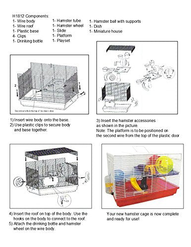 Yml Group H1812bl H1812 Clear Plastic Dwarf Hamster, Mice...