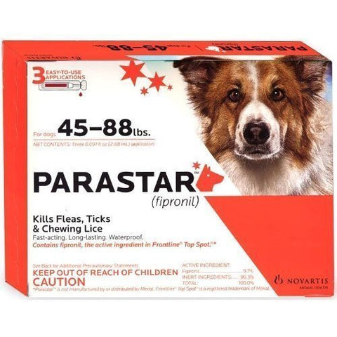 Parastar Plus For Dogs 45-88 lbs, 3 Applications - Peazz Pet
