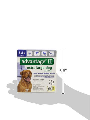 Advantage BLUE-100-4 Flea Control for Dogs And Puppies Over 55 lbs 4 Month Supply