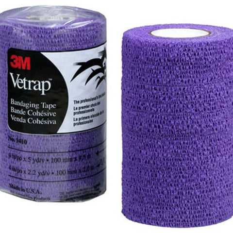 "3M Health Care 10160 3M Vetrap Bandage Tape, 4"" X 5 Yard Roll, PURPLE - Peazz Pet"