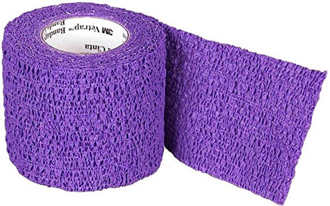 "3M Health Care 16917 3M Vetrap Bandage Tape, 2"" X 5 Yard Roll, Purple - Peazz Pet"