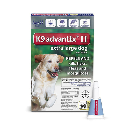Advantix ADVX-BLUE-100-6 Flea and Tick Control for Dogs Over 55 lbs 6 Month Supply