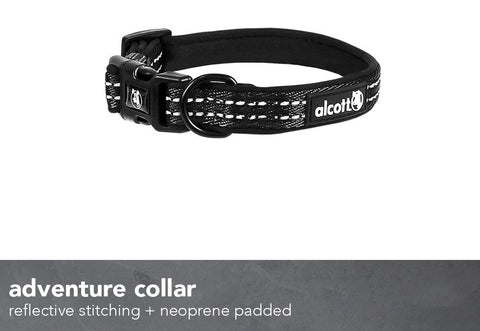 Alcott CLR-SM-ES-BK Essential Adventure Dog Collar