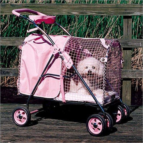 Kittywalk Pink Pet Stroller (KWPS PINK) - Peazz Pet - 1