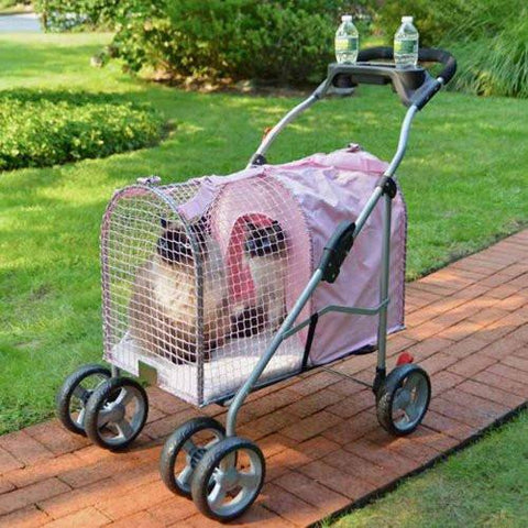 Kittywalk Fifth Ave Pink Pet Stroller SUV (KWPS PINK SUV) - Peazz Pet - 1
