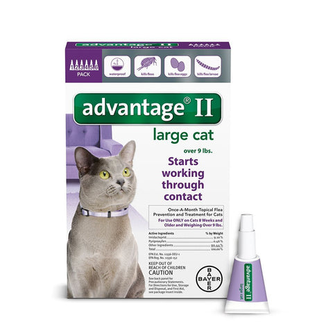 Advantage PURPLE-20-6 Flea Control for Cats and Kittens Over 9 lbs 6 Month Supply