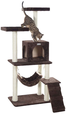 GleePet 57 in. Cat Tree with Ramp