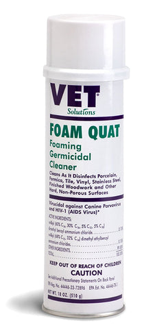 Vet Solutions Foam Quat, 18 oz. - Peazz Pet