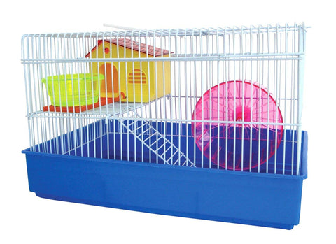 YML 2 Level Blue Hamster Cage