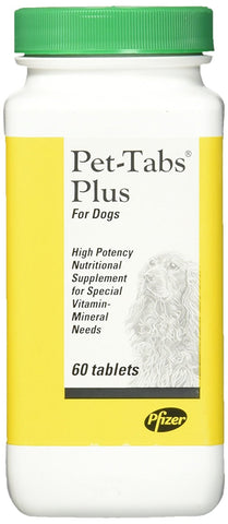Virbac 10933 PetTabs Plus Vitamin Mineral Supplement, 60 Chewable Tablets - Peazz Pet