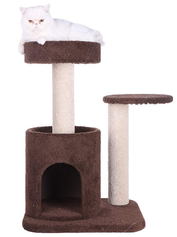 Armarkat Premium Carpeted Cat Tree - Coffee Brown & Beige
