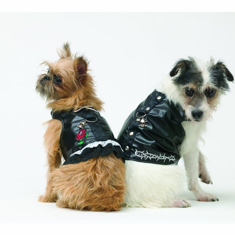 Doggles HADBXS01 Dog Harness Biker Dress