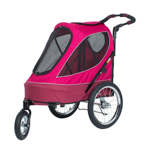Petique JG01100103 All Terrain Jogger-Blazin' Berry Pet Stroller, Blazin' Berry, One Size