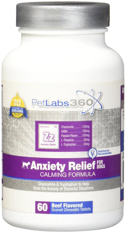 Anxiety Relief Liver Flavor, 60 Chewables - Peazz Pet