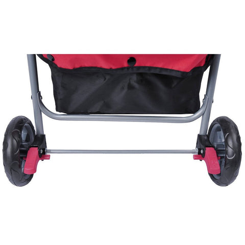 MDOG2 4-Wheel Front & Rear Entry MK0034 Pet Stroller (Red) - Peazz Pet - 7