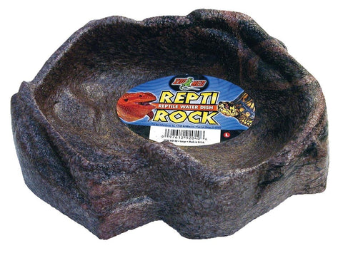 "Repti - rock Water Dish 9 X 7"" - Large (WD-40)"