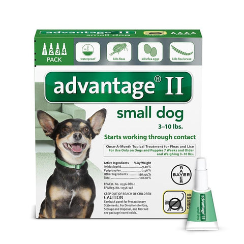 Advantage GREEN-10-4 Flea Control for Dogs and Puppies Under 10 lbs 4 Month Supply
