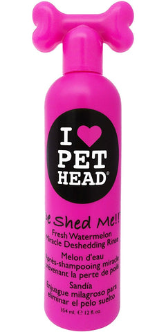 Pet Head PH10201 De Shed Me Miracle Deshedding Rinse Watermelon 12oz