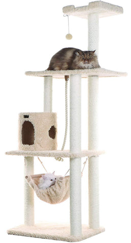 "Armarkat Classic Cat Tree Model A7005 Beige/14""D x 34""W x 70""H"